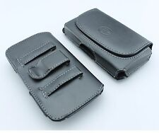 Leather Pouch Side Clip fits with Hybrid / Silicone Skin Rubber TPU Case on it
