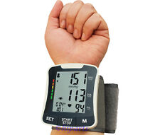 USA FDA Digital Blood pressure monitor wrist Measure auto Heart Beat Rate Meter