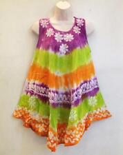 RETRO Hippie India Gypsy Bohemian Festival Tie Dye Batik Top or Mini Dress 887