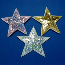 Star Sequins Iron on Sew Patch Applique Badge Embroidered Biker Applique