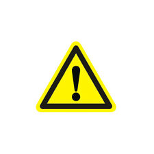 Industrial Safety Decal Sticker caution GENERAL WARNING label Sign 3 Size
