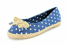 *SALE* GIRLS CUTIE QT SLIP ON CANVAS SHOES IN BLUE F2144 £2.99!!!