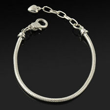 Free Wholesale Lots Fashion Snake Chain Bracelet Fit European Beads Silver Gold