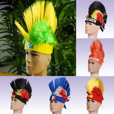 New World Cup Wigs Cosplay Football Hairpiece National Fans Letter Olympic Hats