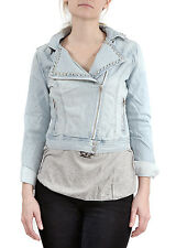 Forever 21 Jean Jacket Denim Studded Cropped Moto Style Juniors Coat