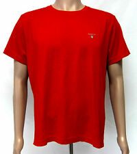 Gant Men's Regular Fit Solid T-Shirt With Embroidered Logo - Red S M L XL BNWT