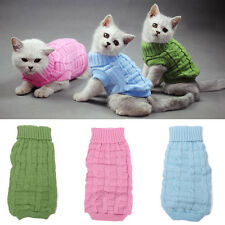 Cute Pet Puppy Cat Dog Kitten Warm Clothes Coat Apparel Jumper Sweater Knitwear