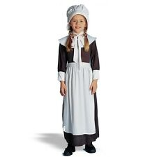 COLONIAL GIRL COSTUME CHILD PEASANT PILGRIM PIONEER PRAIRIE KIDS COSTUMES BONNET