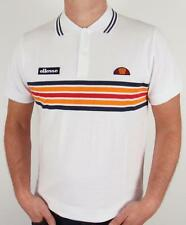 Ellesse Heritage - Elite Striped Polo Shirt in White *EXCLUSIVE*  SALE