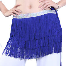 new thick tessels hip scarf Belly Dance costume hip belt silver sequins 7colors