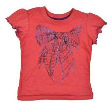 Hurley Infant Girls S/S Razzle Dazzle Glitter Bow Top Size 6M 12M 18M 24M $14