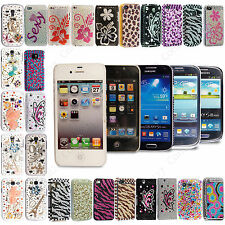 New Luxury Bling Crystal Sparkly Diamond Hard Back Case Cover For Various Phone