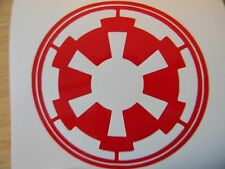 "Vinyl decal sticker Stars Wars Imperial Logo Design #2 Choose your Color 3"" x 3"""