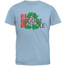 Earth Day - REduce REuse REcycle Light Blue Adult T-Shirt