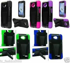 WHOLESALE Quantity of (10) Piece HYBRID T-STAND Phone Cover Case FOR ALL MODELS