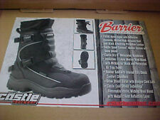CASTLE X MENS MENS BARRIER SNOWMOBILE BOOTS SIZE  9   $83.00 FREE SHIPPING