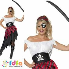 BUCCANEER BABE PIRATE CAPTAIN WENCH UK 8-18 womens ladies fancy dress costume