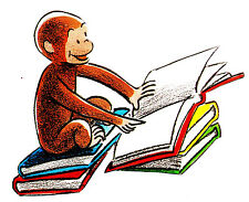 "6-10"" CURIOUS GEORGE MONKEY WALL SAFE STICKER BORDER CUT OUT CHARACTER"