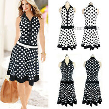 CHEAP WOMEN'S CLOTHING SLEEVELESS DRESS POLKA DOTS COCKTAIL PARTY WIGGLE DRESS