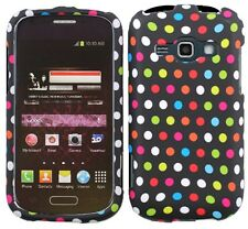 RAINBOW DOTS Snap-On Cover for Samsung Galaxy Ring / Prevail 2 II SPH-M840