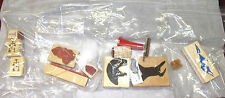 Scenic primitive rubber stamp lot choices Southwest animals mountains cactus