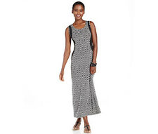 NY Collection $59 Sleeveless Color-Block MAXI Dress PETITE XS 0 2 S 4 6 M 6 8 M8