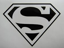 "Superman Border Style Vinyl Decal Sticker Choose your Color 3.75""H x 5""W"