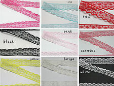 wholesale 10/20/50/100 yd embroidery lace ribbon colors can be selected 10color