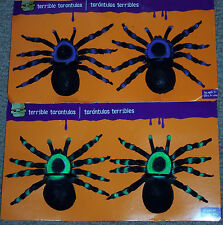 Tarantulas,2/pk,ass't colors,large,spiders,life size,scary,fuzzy,kid's gift