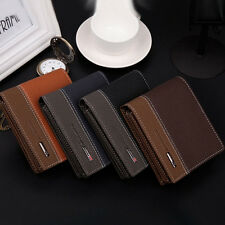 Men Leather Bifold Money Card Holder Wallet Coin Bag Long Purse Clutch Pocket