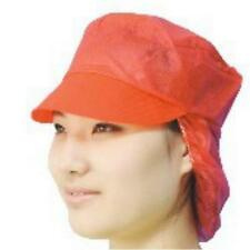 DISPOSABLE RED SNOOD FOOD CATERING CHEF HYGIENE HAIR-NET PEAKED MEDI-CAL CAP HAT