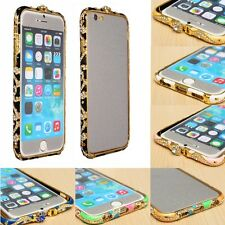 """Luxury Bling Crystal Diamond Metal Bumper Frame Case For iPhone6 4.7""""/6 Plus 5.5"""