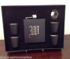 Engraved Free 7 Piece Flask Set Groomsman Best Man Gift Personalized Engraved