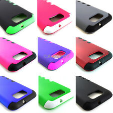 For BLU Studio 5.5 D610a Hybrid Case Snap On Cover Silicone TUFF+Screen