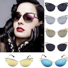Fashion Metal Frame Sexy Cat Eye Sunglasses For Women Vintage Sunglasses beauty