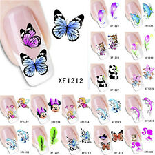 Water Transfer Decal Stickers Nail Art Manicure Tips 3D Flower Butterfly Animal