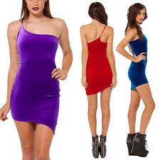 Sexy Women Sleeveless Velvet Slim Bodycon Cocktail Party Evening Mini Dress