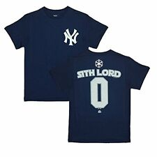 New York Yankees Star Wars Sith Lord Name and Number T-Shirt
