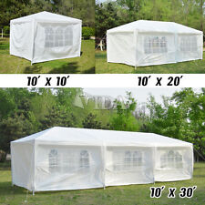 10' 20' 30' White outdoor Wedding Party Tent patio Gazebo Canopy with Side Walls
