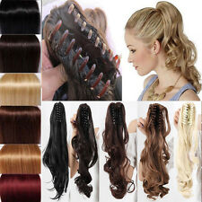 Long Wavy Hair Claw Ponytail Clip In Hair Extensions Hairpiece Claw Ponytail