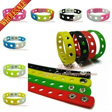 Wholesale DHL/EMS Mix 200PCS silicone bracelets/wristbands for Charms JIBZ Croz