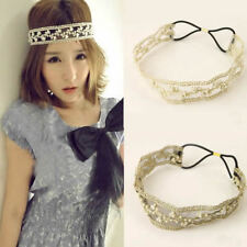Hot Fashion Womens Ladys Lace Pearl Beads Headhand Hairband Hair Head Band