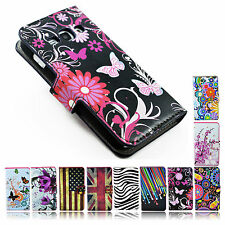 Card ID Leather Pocket Cover Case Stand Flip For Samsung Galaxy Mobile Phones
