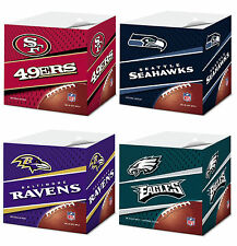 NFL Licensed  Self Stick Pads - 550 Pages Office Memo Pad, Sticky Note Cube Pad