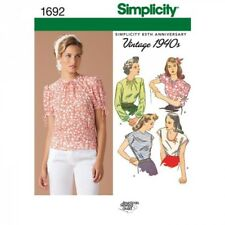 Misses' Retro Tops Fabric Sewing Patterns 1692