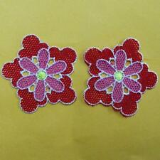 2 Flower Floral Sew on Patch Cute Applique Badge Embroidered Applique Lace Sexy
