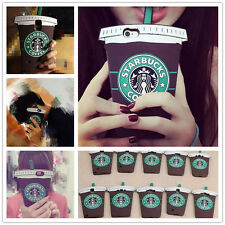 Cool 3D Starbucks Coffee Cup Soft Silicone Case For Apple iPhone Smart Phone Lot