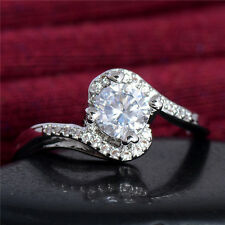 Fashion 925 sterling silver beautiful womens cubic zirconia ring size 7-9