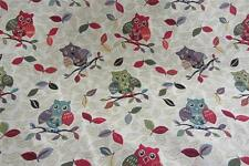 Tapestry Owls Curtain/Craft/upholstery Fabric