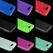 For ZTE Overture 2 Fanfare Ultra Thin Slim TPU Case Cover+Tempered Glass Screen